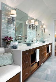 I love the sinks, the cupboards, the bench, the lighting...EVERYTHING!