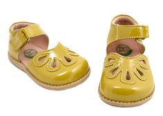 Yellow petal shoes from Livie & Luca.  Why don't they just make them in women's sizes!?
