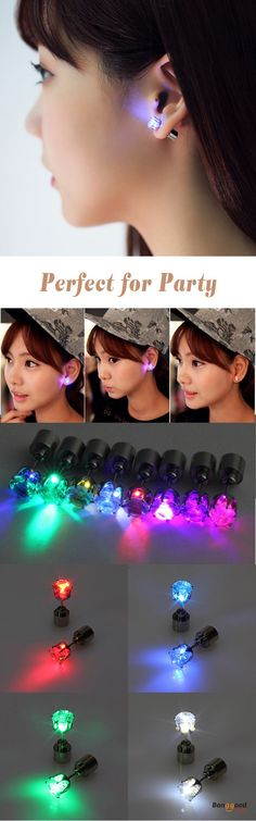 US$4.29+Free shipping. Material: Stainless steel, Cubic Zirconia stone. Color: Blue, Red, Green, White, Purple, Rainbow, Yellow, Pink. Perfect for party! Women's Jewelry, Women's Earrings, Women's Fashion, Christmas Accessories.