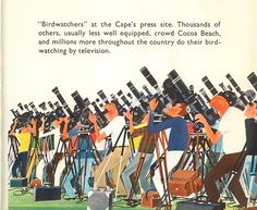 This is Cape Canaveral: birdwatchers. By M. Sasek, 1963.