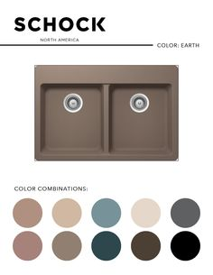 The EARTH Shock sink is a rich tone that compliments a multitude of colors and designs. Let it help you inspire your next redesign or settle in to your current kitchen. #kitchen #sink #earth #shock #kitchensink #sand #rose #blue #tan #brown #charcoal