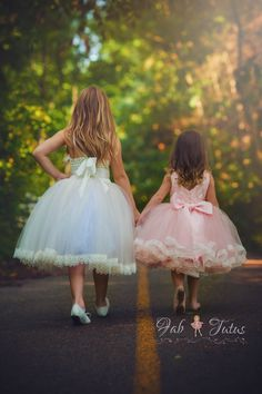 """Blush and gold  flower girl tutu dress with big bow - """"Estelle"""" tutu dress  - """"At First Blush"""" Collection"""