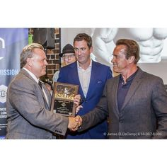 Eric Hillman and Arnold Schwarzenegger at the 2016 After-School All-Stars Ohio Arnold Experience photographed Friday March 4 2016 at Dock 580. ( James D. DeCamp   http://ift.tt/1uidMgw & http://ift.tt/1LZVwPP   614-367-6366) #Schwarzenegger #ASF2016 #JDeCampPhoto #BlueShiesHD #ArnoldSportsFestival #ArnoldClassic #Dock580 #ASASOhio #MayorGinther #Kasich #614 #AsSeenInColumbus #ApoloOhno #bigehillman
