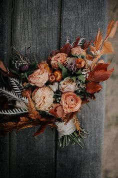 If You Love the Trending Rust and Orange Color Palette, This Retro Wolf Feather . If You Love the Trending Rust and Orange Color Palette, This Retro Wolf Feather Honey Farm Wedding Inspiration is for You Bridal Bouquet Fall, Fall Wedding Bouquets, Fall Wedding Flowers, Wedding Flower Arrangements, Bridal Flowers, Floral Wedding, Bridal Bouquets, Autumn Wedding Colors, Boho Flowers