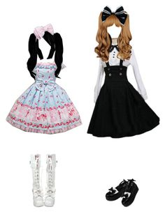 """""""Lolita Friends"""" by yazileona ❤ liked on Polyvore featuring yeswalker"""