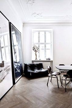 stucco ceiling - herringbone floor | photo birgitta wolfgang