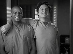 Turk & JD in Scrubs.