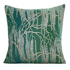Kevin O'Brien emerald willow pillow.
