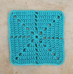 Crochet Filet Starburst Square