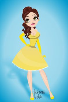 Princess Belle Pinup by anzu-da-opinionated.deviantart.com