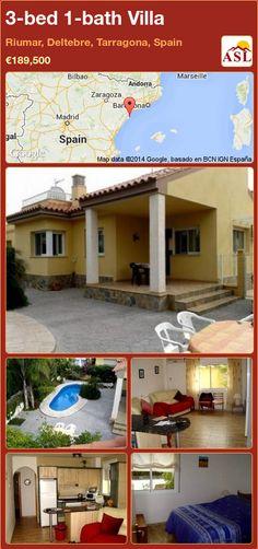 3-bed 1-bath Villa in Riumar, Deltebre, Tarragona, Spain ►€189,500 #PropertyForSaleInSpain