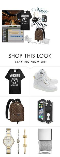 """""""New collab"""" by evigr ❤ liked on Polyvore featuring Anja, Moschino, Louis Vuitton, Marc by Marc Jacobs, FOSSIL, Diamond Supply Co., women's clothing, women's fashion, women and female"""
