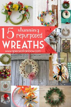 What do marshmallows, garden hose, old sweaters, and bicycle wheels have in common? They can all be made into gorgeous wreaths! Wreaths are so festive. Now the holidays are getting closer, I find m...