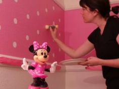 Minnie Mouse Themed Room Paint Tutorial