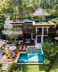 Four Seasons Resort Sayan Ubud, Bali Freunde finden - Haus How to Crafts Dream Home Design, Modern House Design, Tropical House Design, Tropical Homes, Luxury Homes Dream Houses, Dream Homes, Dream Mansion, Dream House Exterior, Style At Home