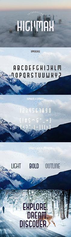 HIGHMAX Typefamily (80%OFF). Display Fonts. $8.00