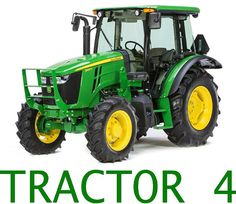 Huge John Deere Tractor Contour Cut Decal Stickers by LetsPrintBig