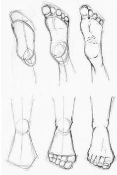 How to draw feet cuz idkHow to draw legs part Rules of geometry and body structureReference guide step by step drawing female torso.Step by Step drawing lessons easy pencil drawing lessons for beginners Pencil Art Drawings, Art Drawings Sketches, Easy Drawings, Body Sketches, Doodle Drawings, How To Draw Sketches, Hipster Drawings, Colored Pencil Artwork, Detailed Drawings