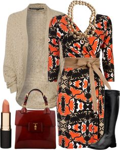 """""""Autumn Dressy Outfit"""" by crystalbreauchy on Polyvore"""
