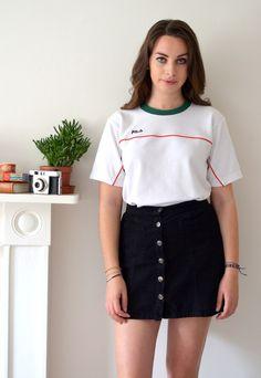 90s Vintage Fila White T-Shirt   Ica Vintage   ASOS Marketplace