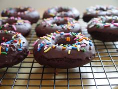 Baked Chocolate Chocolate Donuts   dawdling darlings