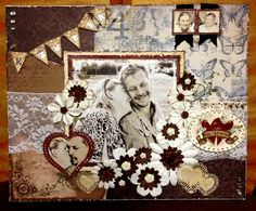 Scrapped canvas. #scrapbooking #layout