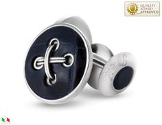 button cufflink blue