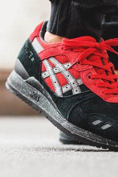 ASICS Gel Lyte III Black & Red #sneakers