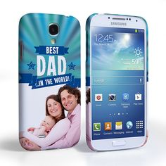 Caseflex Samsung Galaxy S4 Best Dad in the World (Blue) Case/Cover | Mobile Madhouse