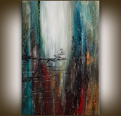 Original Acrylic Abstract Large Painting Abstract Paintings Modern Contemporary Art Large modern art 24x36 abstract fine art on Etsy, $294.12