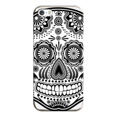Sugar Skull, black and white - iPhone 6s Case,iPhone 6 Case,iPhone 6s... (135 PLN) ❤ liked on Polyvore featuring accessories, tech accessories, phone cases, phone, cases, iphone case, clear iphone cases, iphone cover case, black and white iphone case and iphone cases