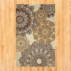 Neutral Crochet Indoor-Outdoor Rug | World Market