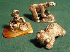 "#3799-Three (3) miniature pewter figurines-size 1.00""-2.00 - http://get.sm/69pQsvd #tradebank General Merchandise,Hamilton ON"