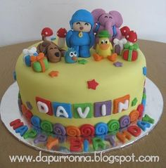 POCOYO BIRTHDAY CAKE FOR