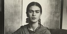 """""""I paint self-portraits, because I'm so often alone, because I am the person I know best."""" – Frida Kahlo. Artist Frida Kahlo was considere. Vladimir Lenin, Diego Rivera, Black And White Portraits, Black And White Photography, Frida Kahlo Exhibit, Sound Library, New Spain, Challenge The Status Quo, Artist Life"""