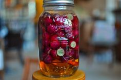 Pickled Red Grapes ~ The sugar balances out the astringency of the vinegar and leaves you with edgy burst of sweet-tart flavor.