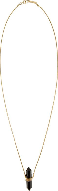 Isabel Marant - Black & Gold Sautoir Necklace