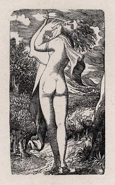 The Bacchante (second version) or Study from an Antique Gem by Edward Calvert