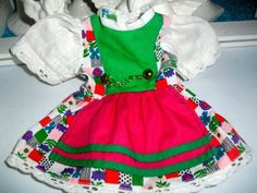 Dirndl-fuer-die-Puppe-Kleid-Puppenkleid-Landhaus-Vintage-Shabby-ca-70er