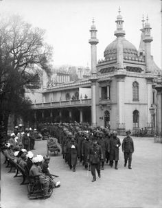 Wounded Indian soldiers at Brighton Pavilion, 1915 Brighton Rock, Brighton Sussex, Brighton And Hove, East Sussex, World War One, First World, Royal Pavilion, Flanders Field, London England