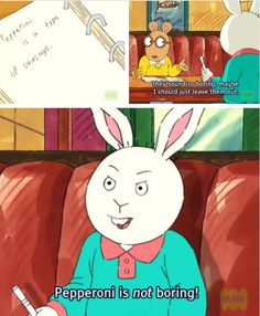 You tell him, Buster.