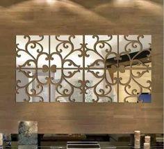 espelhos decorativos para sala acrilico