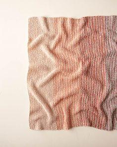 Ravelry: Gradient Stripe Blanket pattern by Purl Soho Knitted Afghans, Crochet Blanket Patterns, Knitted Blankets, Knitting Patterns Free, Free Knitting, Loom Knitting, Knitting Stitches, Purl Soho, Hand Dyed Yarn