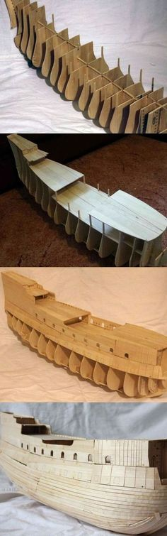 Pirate ship and Noahs ark giant sturdy 3d model making 50 cm animals pirates