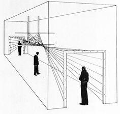 Herbert Bayer, Drawing for Entrance, Modern Art in Advertising Exhibition, The Art Institute of Chic Herbert Bayer, Moma, Bauhaus, Museum, Entrance Design, Exhibition Display, Design Studio, Design Design, Art Institute Of Chicago