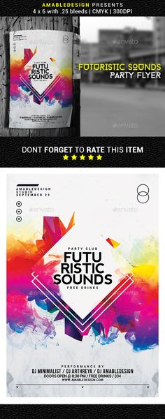 Futuristic Sounds Flyer / Poster Template PSD. Download here: https://graphicriver.net/item/futuristic-sounds-flyerposter/17167503?ref=ksioks