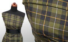 Tkanina kratka flanela green moss - Tkaniny wzorzyste - Textilmar