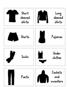 Drawer labels!  These are excellent for teaching reading and responsibility!  Kids can get dressed on their own and put their own clothes away!
