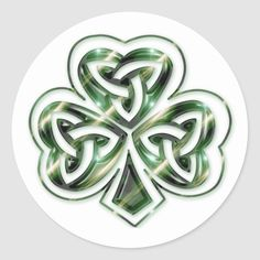 Shop Celtic Shamrock :: Green Space Design Stickers created by Personalize it with photos & text or purchase as is!