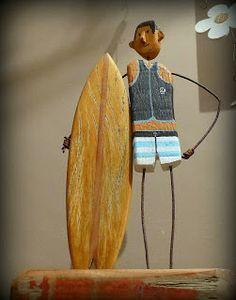 driftwood surf art surfart, surf art, art du surf, driftwood, bois flotté, art naive, art brut, upcycling